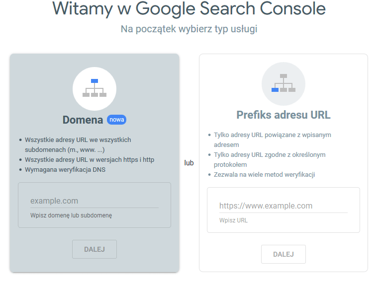 Witamy w Google Search Console